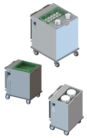 Heated Mobile Tray and Rack Dispensers