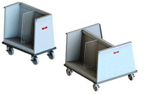 low profile dish carts open