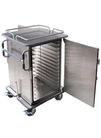 Meal delivery cart for re-therm systems
