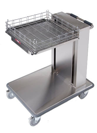 Mobile tray / rack cantilever dispenser