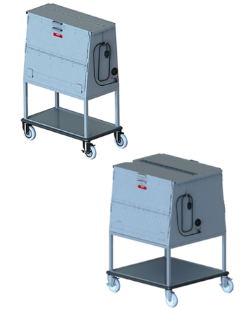 Raised Height Dish Carts, Enclosed