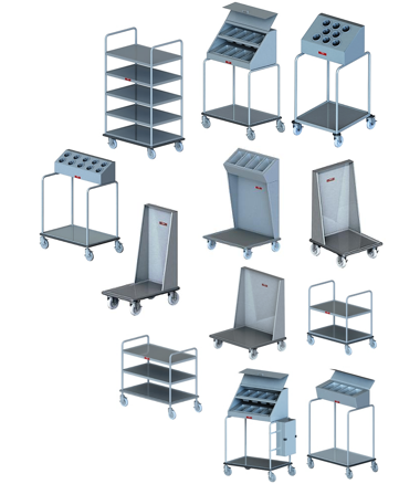 Tray and Cutlery Carts