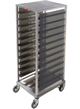 Tray / rack cart with custom panels