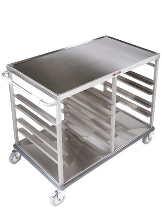 Two compartment utility table